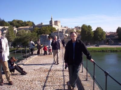 AVIGNON   FRANCE.---- On the Bridge  of St,-Benezet  in  November  2003.   first  visit.