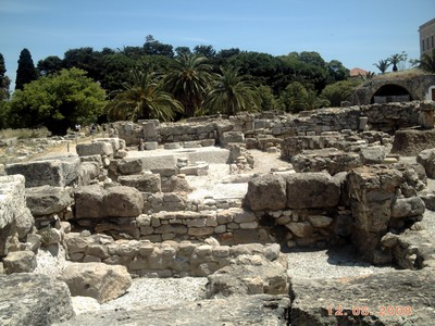 GREECE  KOS.      Archaeological  Site in Kos Town.