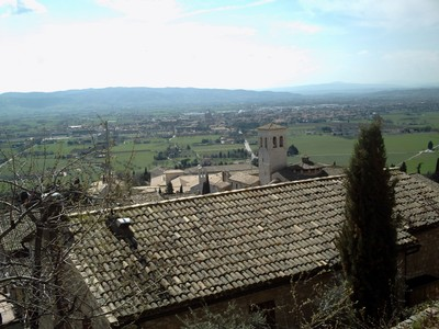 ASSISI,  ITALY. --  View of  the  Tuscany  countryside.