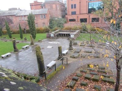 CHESTER  Roman garden.