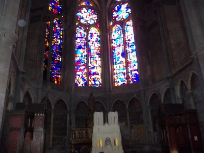 REIMS,  FRANCE.  Inside cathedral.
