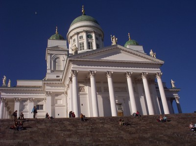 HELSINKI  FINLAND.   The Finnish Evangelical Luthern Cathedral, built between 1830 and 1852.