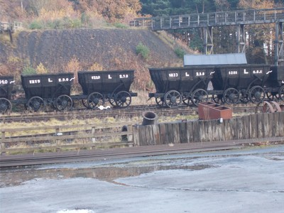 BEAMISH MUSEUM. Colliery  wagons.