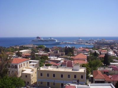 GREECE RHODES..  View from top of Clock Tower.
