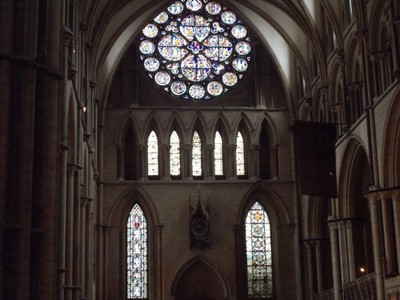LINCOLN CATHEDRAL Rose window.