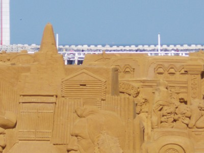 OSTEND  On the beach, Sand sculptures.
