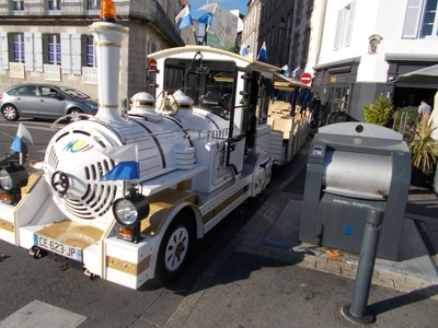 VANNES,  FRANCE.   Tourist train,  i found this a good way to look around.