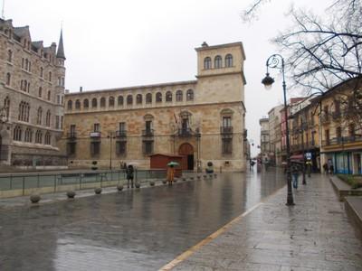 LEON  SPAIN.--  Palacio  de los  Guzmanes. in  San Marcelo  Square.