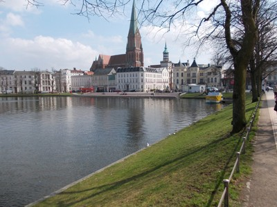 SCHWERIN  GERMANY.  I sat in a open air cafe, at the end of the lake.
