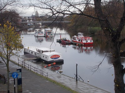 CHESTER Boats on the river Dee.