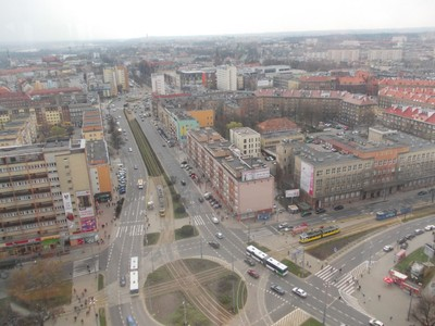 SZCZECIN  POLAND.  View from top of modern tower .