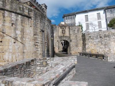 HONDARRIBIA  SPAIN.     City wall  and  San  Pedro   Gate.