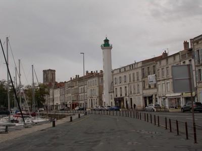 LA  ROCHELLE,  FRANCE.  --The slender lighthouse,  Phare Du Quai Valin.