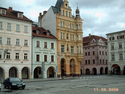 CZECH,  CESKY BUDEJOVICE.    Main Square,  Ottokar Square.