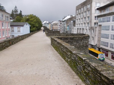 LUGO,  GALICIA  SPAIN.----On top  of  the  city  wall,  took  45  years  to  build.