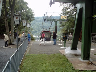 COCHEM  GERMANY.            .Arriving at the summit.