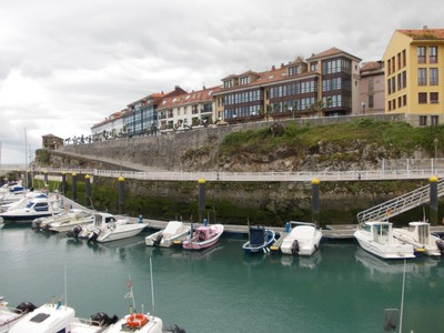 LLANES,  SPAIN.   --  Walk up  to  Lighthouse.