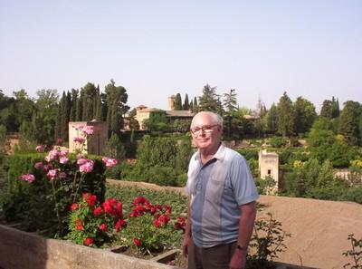 SPAIN   GRANADA..  Alhambra  gardens.