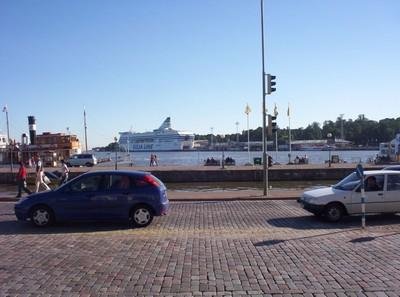 HELSINKI  FINLAND    Ferry in port for  Stockholm.