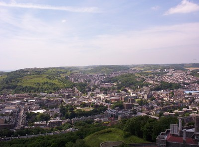DOVER  ENGLAND ...  Dover  town  from  Castle.