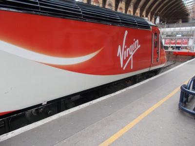 YORK  STATION..Virgin  train..   Route  taken over by  LNER.