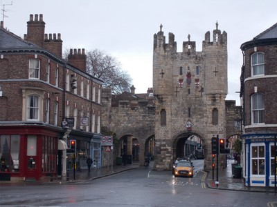 MICKLEGATE BAR FROM OUTSIDE CITY IN BLOSSOM STREET. YORK