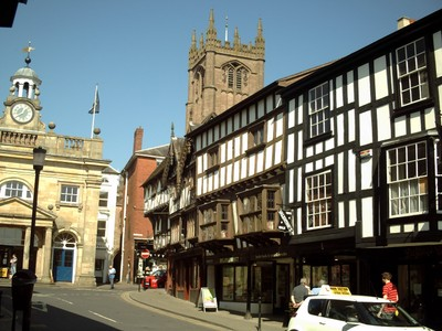 LUDLOW,  ENGLAND.--  Broad  Street  and King  Street.