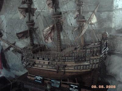 TURKEY  BODRUM  ----MODEL SHIP IN CASTLE  MUSEUM.