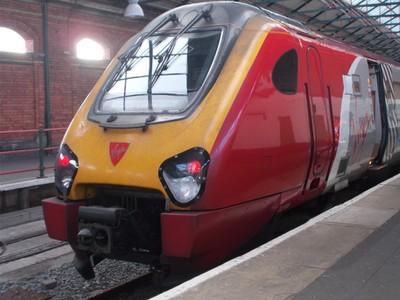HOLYHEAD WALES. Virgin Trains engine.