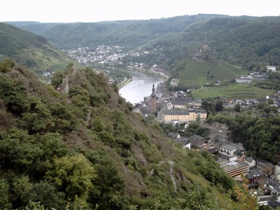 COCHEM  GERMANY.. View of river Moselle.