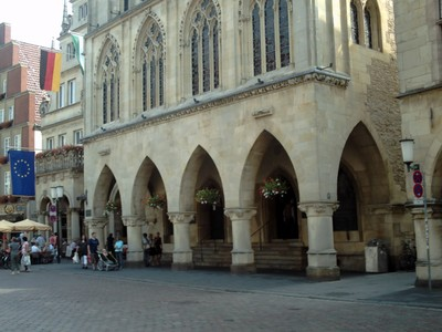 MUNSTER,   GERMANY. -- Rathaus,,  Town  Hall.