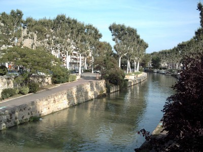 NARBONNE   FRANCE.  Canal  de  la  Robine.   Built  in  1776.