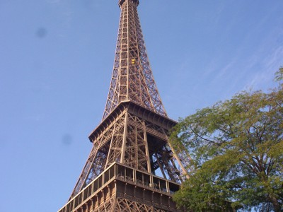 PARIS  FRANCE --  Eiffel  Tower   Wrought  iron  tower.  324m  high.  Completed  1889.