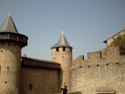 CARCASSONNE  FRANCE.  --Inside the  Castle.   --  A Medieval  Fortress.