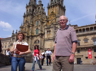 SPAIN  SANTIAGO DE COMPOSTELA.  Cathedral is the alleged burial site of St. James the Apostle.