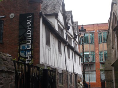 LEICESTER Guildhall , a timber framed building ,first part from 1390 AD.