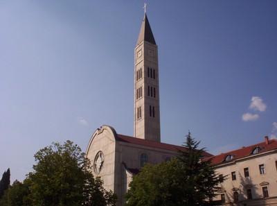 MOSTAR, BOSNIA HERZEGOVINA.  - Catholic  church  of  St  Peter  and  St  Paul.