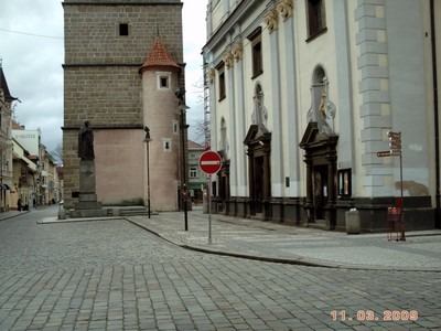 CZECH,  CESKY  BUDEJOVICE.  Base of Black  Tower,  225 steps to climb.