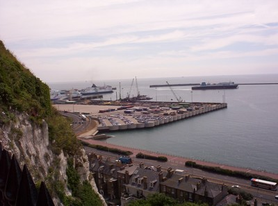 DOVER  ENGLAND.   Part  of  Dover  Harbour.