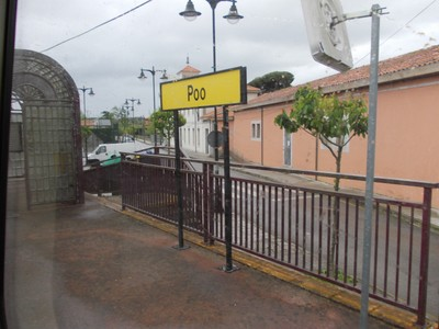 POO,  SPAIN .   --  This  is the  next  FEVE  Station  to  Llanes. --  Train takes  2  minutes. -  Walk  30  minutes in  1 & half  miles.