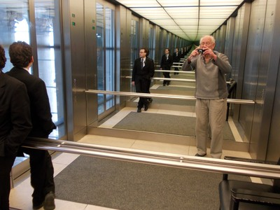 IN LIFT TO DOME