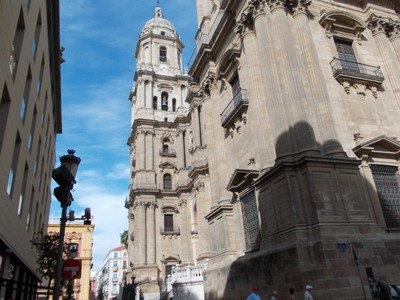 SPAIN   MALAGA.  Tower of Cathedral.