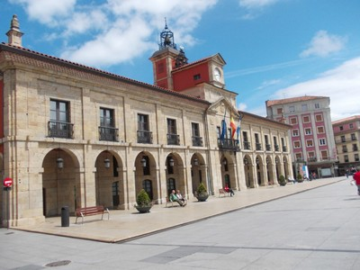 AVILES,  SPAIN.  --  Town  Hall,  in Plaza  de  Europa.