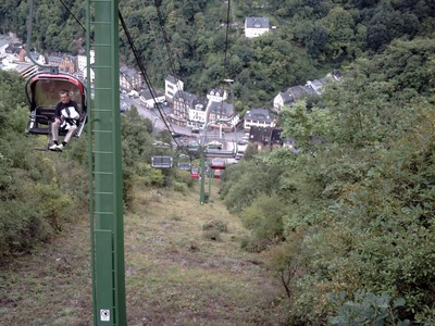 COCHEM  GERMANY.. Chairlift,  155 metres to top.