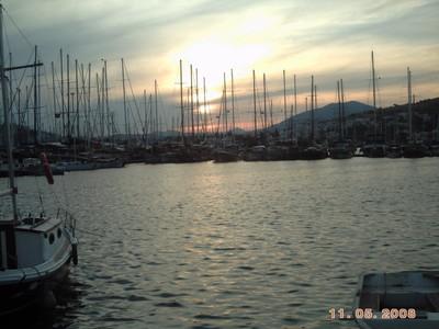 TURKEY  BODRUM.  Sunset.