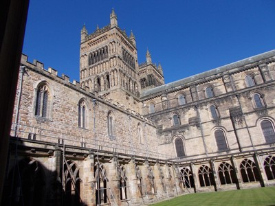 DURHAM CATHEDRAL CLOISTERS.