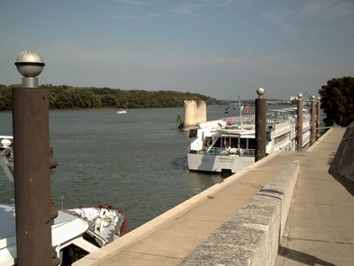 ARLES,  FRANCE,  --  Stroll by the  river  Rhone.