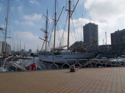 OSTEND . Mercator, Ex Sailing ship, open to public.