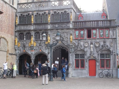 BRUGGE   Basilica of the Holy Blood.  The church as a relic of the Holy Blood believed collected by Joseph of Arimatea.