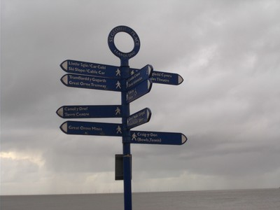 LLANDUDNO WALES. Duel signs, Welsh and English.